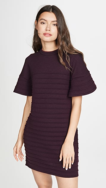 Victoria Victoria Beckham Flounce Sleeve Mini Dress