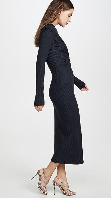 Victoria Victoria Beckham Миди-платье с драпировкой спереди