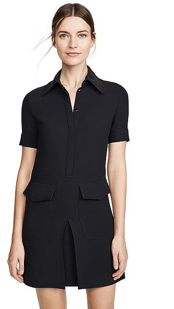 Victoria Victoria Beckham 短袖口袋连衣裙