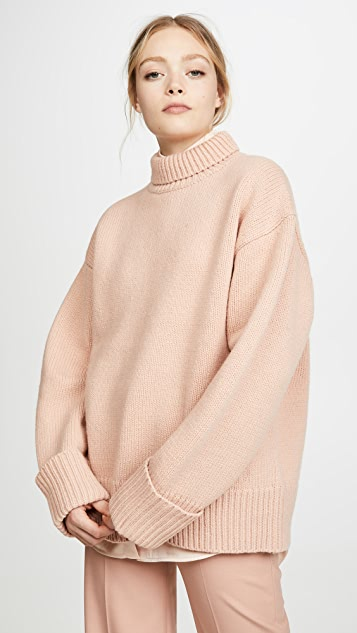 Victoria Victoria Beckham Relaxed Funnel Neck Sweater