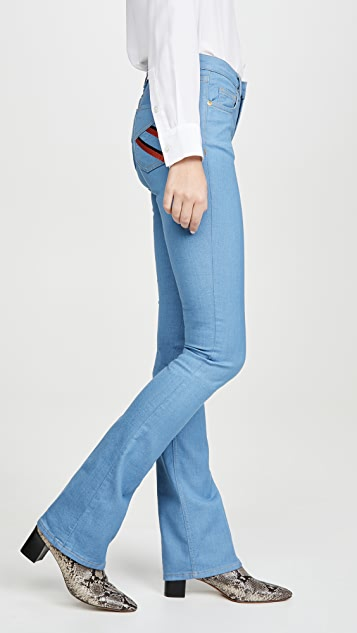 Victoria Victoria Beckham 修身喇叭牛仔裤