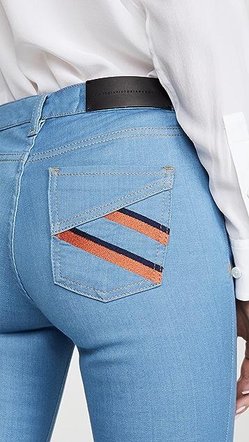 Victoria Victoria Beckham Узкие расклешенные джинсы
