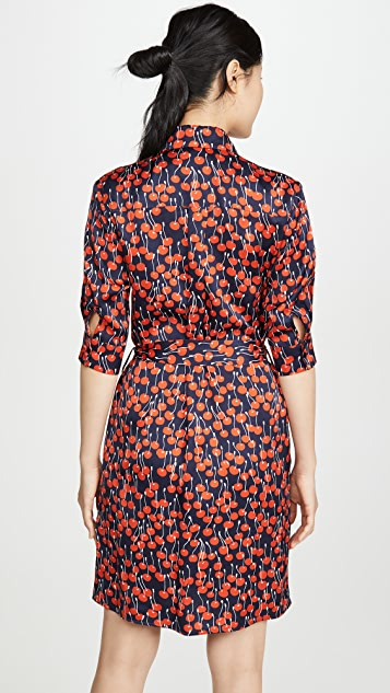 Victoria Victoria Beckham 樱桃印花衬衣式连衣裙