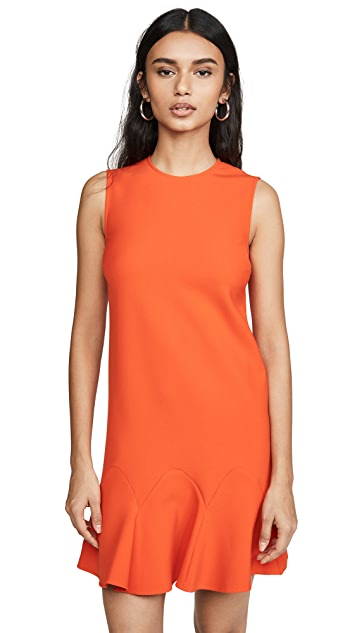 Victoria Victoria Beckham Flounce Hem Shift Dress