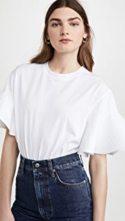 Victoria Victoria Beckham 荷叶边袖 T 恤