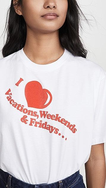 Victoria Victoria Beckham Футболка I Heart Weekends
