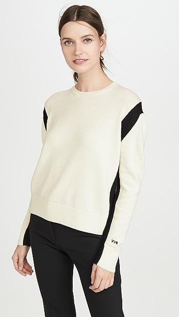 Victoria Victoria Beckham 露背式圆领毛衣