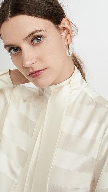 Victoria Victoria Beckham Neck Tie Shirt