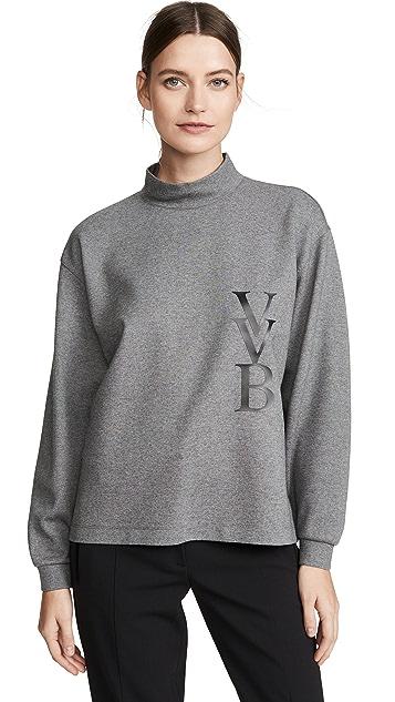 Victoria Victoria Beckham 顶部饰以凸起徽标