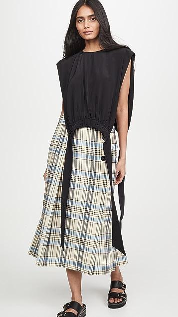 Victoria Victoria Beckham 裥褶围兜上衣