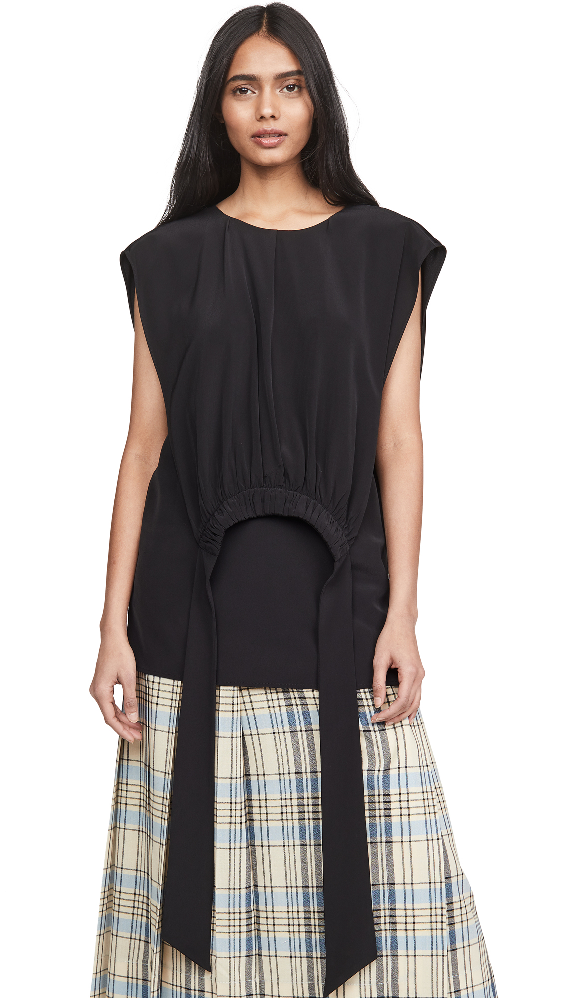 Victoria Victoria Beckham Gathered Bib Top