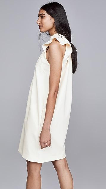 Victoria Victoria Beckham Ruched Shoulder Sleeveless Dress