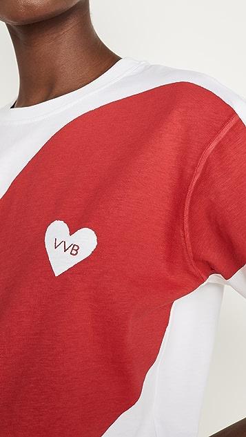 Victoria Victoria Beckham Футболка с сердцем