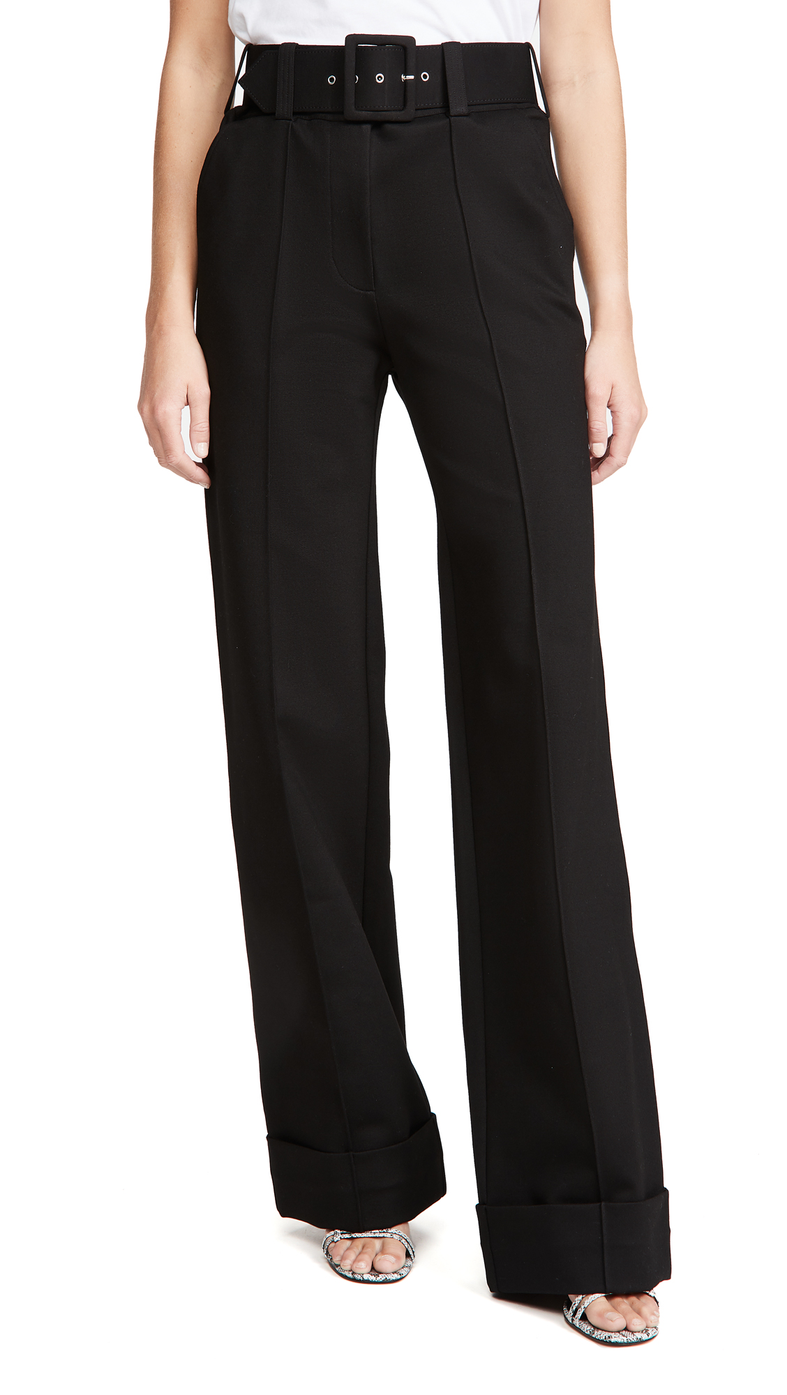 Victoria Victoria Beckham Belted Jersey Trousers