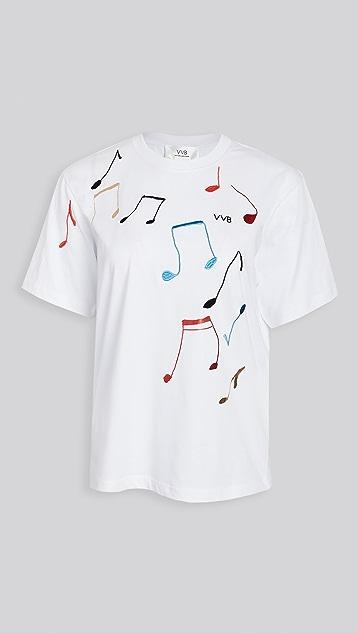 Victoria Victoria Beckham 音符 T 恤