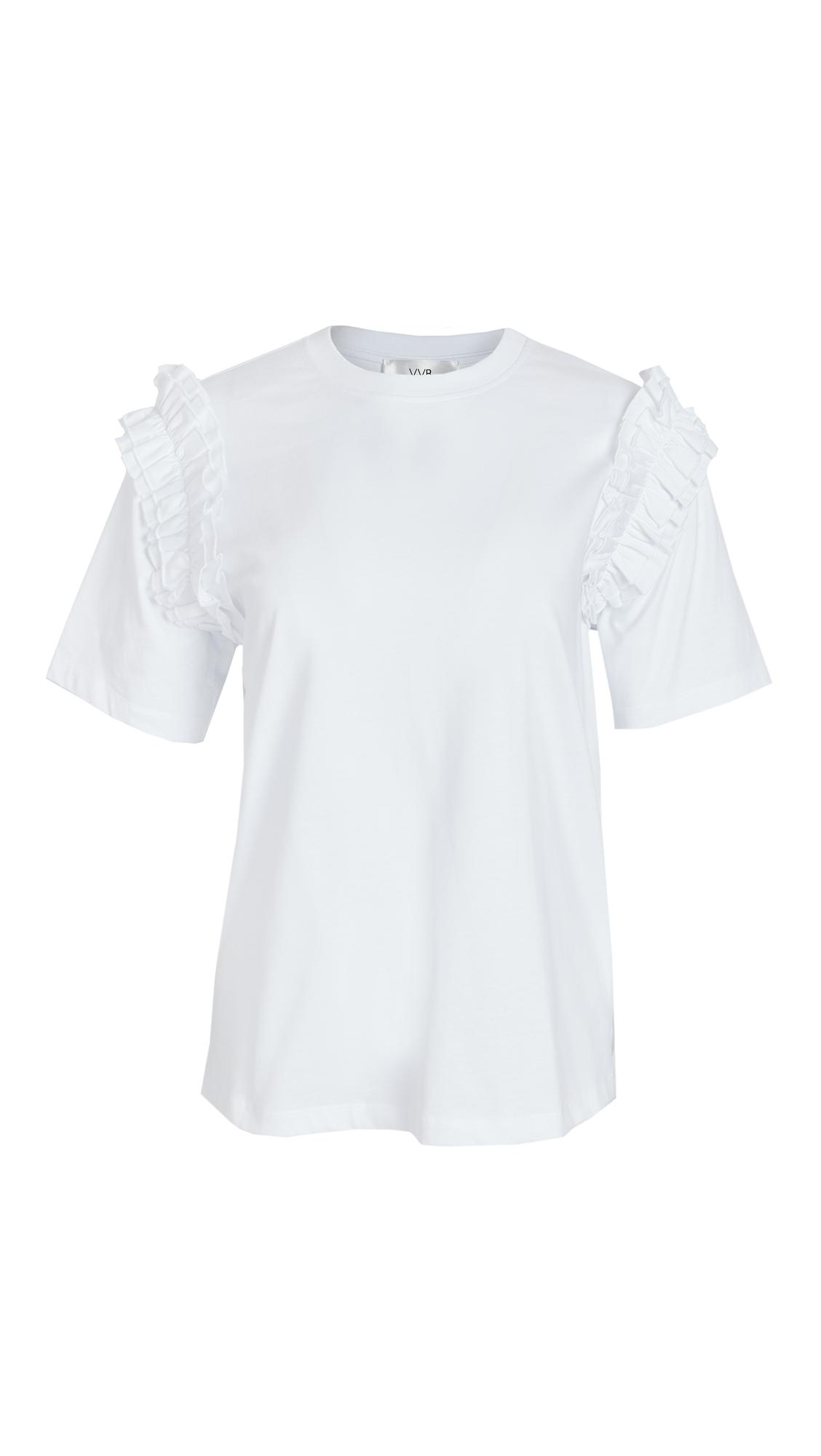 Victoria Victoria Beckham Ruffle Trim T-Shirt