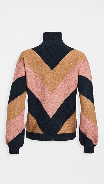 Victoria Victoria Beckham Oversized Mock Neck Sweater