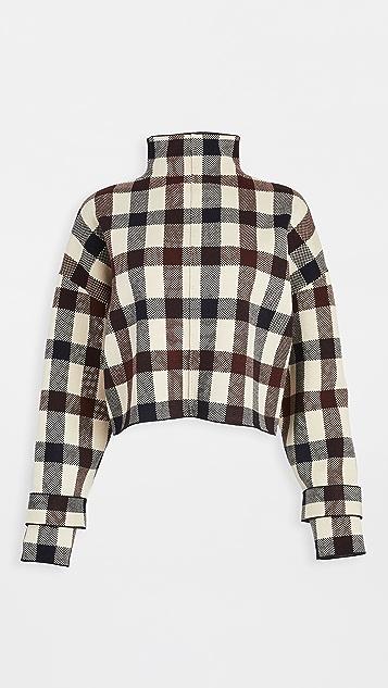 Victoria Victoria Beckham Crop Funnel Neck Sweater