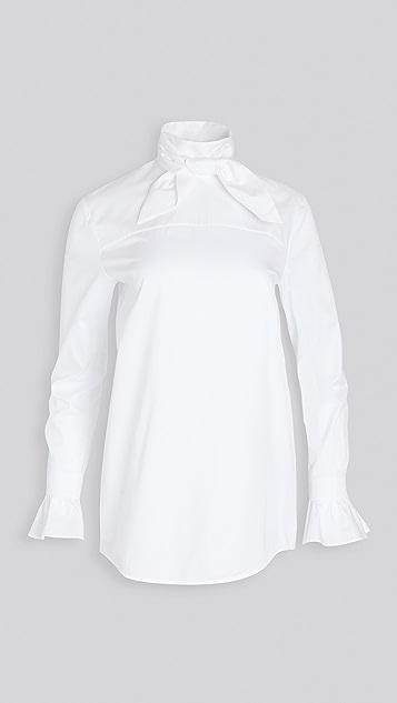Victoria Victoria Beckham Reverse 背面绑带衬衫