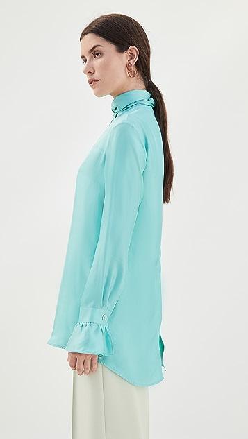 Victoria Victoria Beckham Reverse Tie Neck Shirt