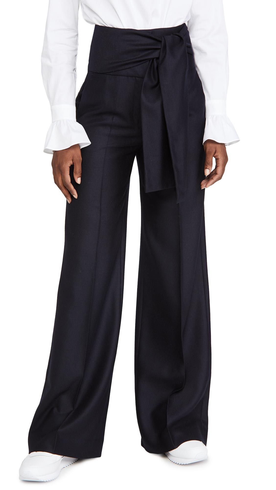 Victoria Victoria Beckham Tie Waist Trousers