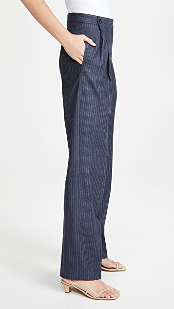 Victoria Victoria Beckham 纽扣裥褶长裤
