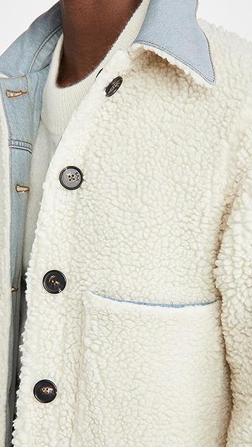 Victoria Victoria Beckham Reversible Sherpa Trucker Jacket