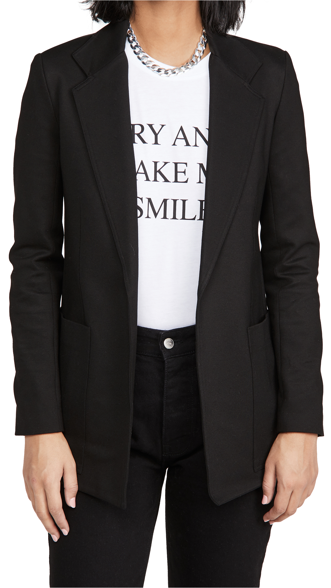 Victoria Victoria Beckham Patch Pocket Jersey Jacket