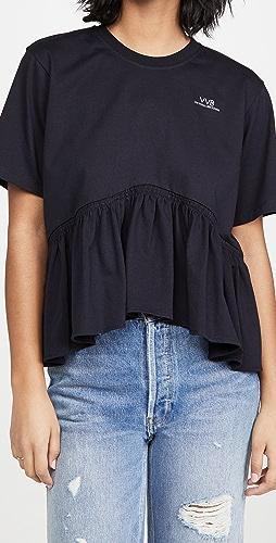 Victoria Victoria Beckham - Flounce Hem T-Shirt