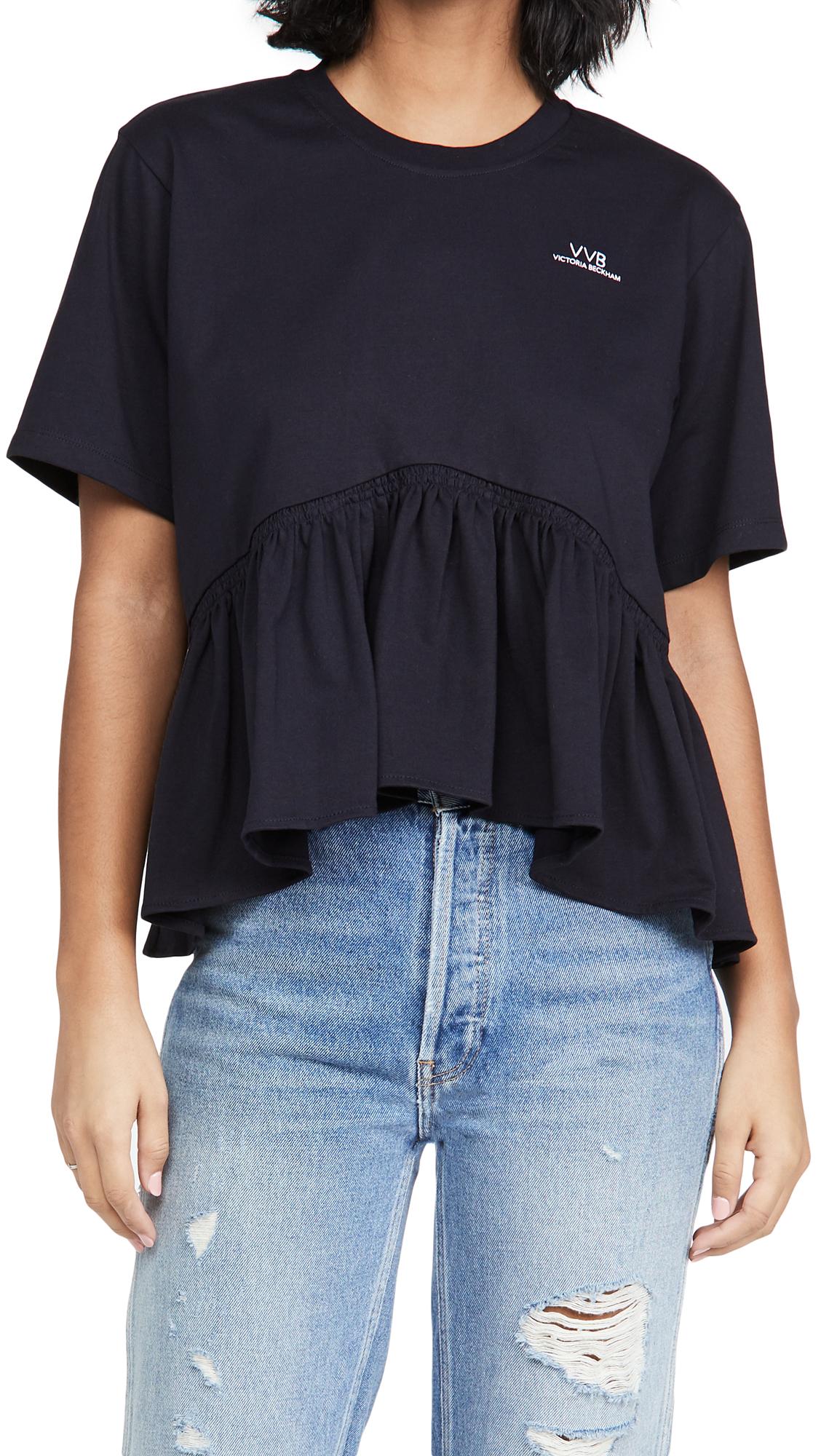 Victoria Victoria Beckham Flounce Hem T-Shirt