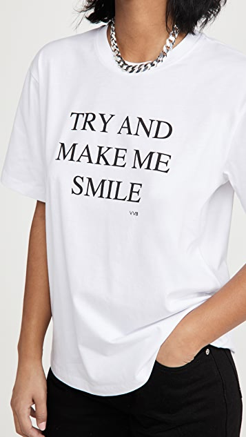 Victoria Victoria Beckham Try And Make Me Smile T-Shirt