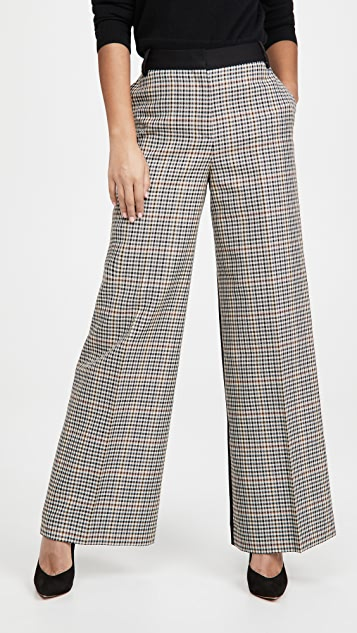 Victoria Victoria Beckham Straight Leg Recycled Polyester And Wool Pants