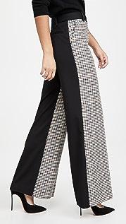 Victoria Victoria Beckham 再生聚酯纤维和羊毛直脚裤长裤