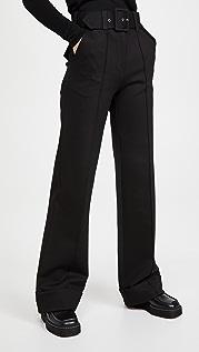Victoria Victoria Beckham 系腰带平纹针织面料长裤
