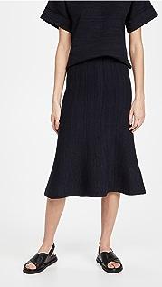 Victoria Victoria Beckham Fluted Soft Viscose Blend Skirt