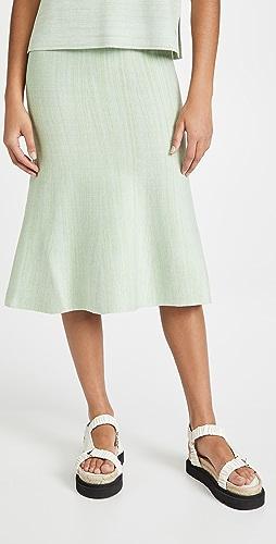 Victoria Victoria Beckham - Fluted Soft Viscose Blend Skirt
