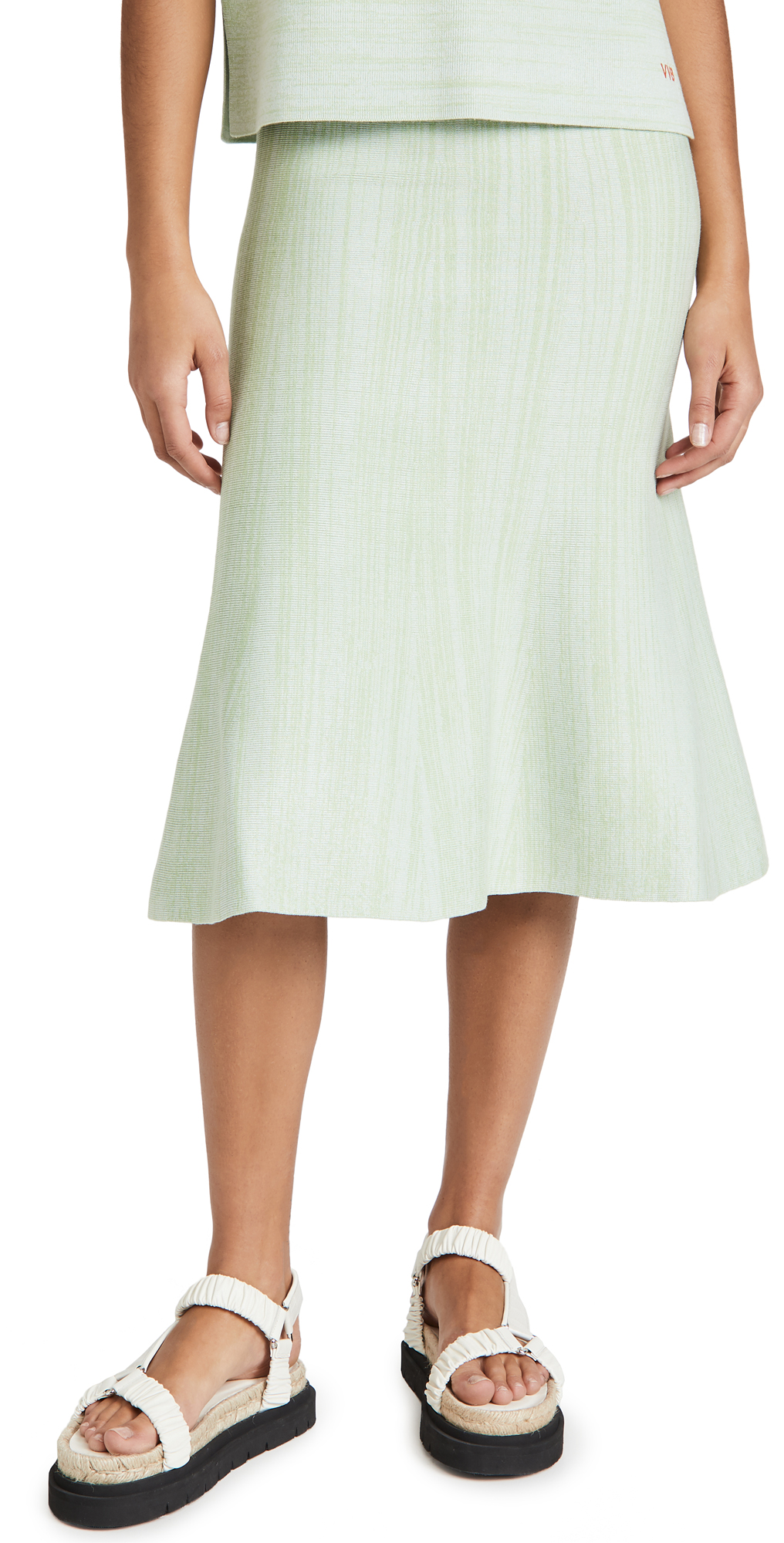 Victoria Victoria Beckham Fluted Soft Viscose Blend Skirt