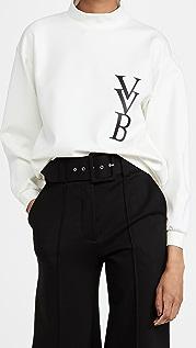 Victoria Victoria Beckham 3D Logo Ponte Jersey Sweatshirt
