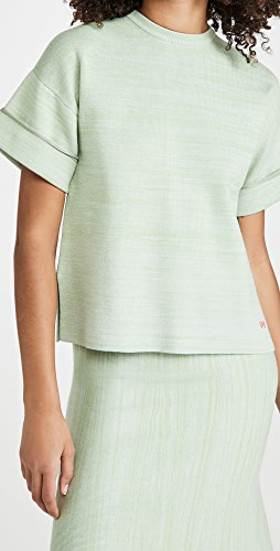 Victoria Victoria Beckham - Boxy Soft Viscose Blend T-Shirt Top