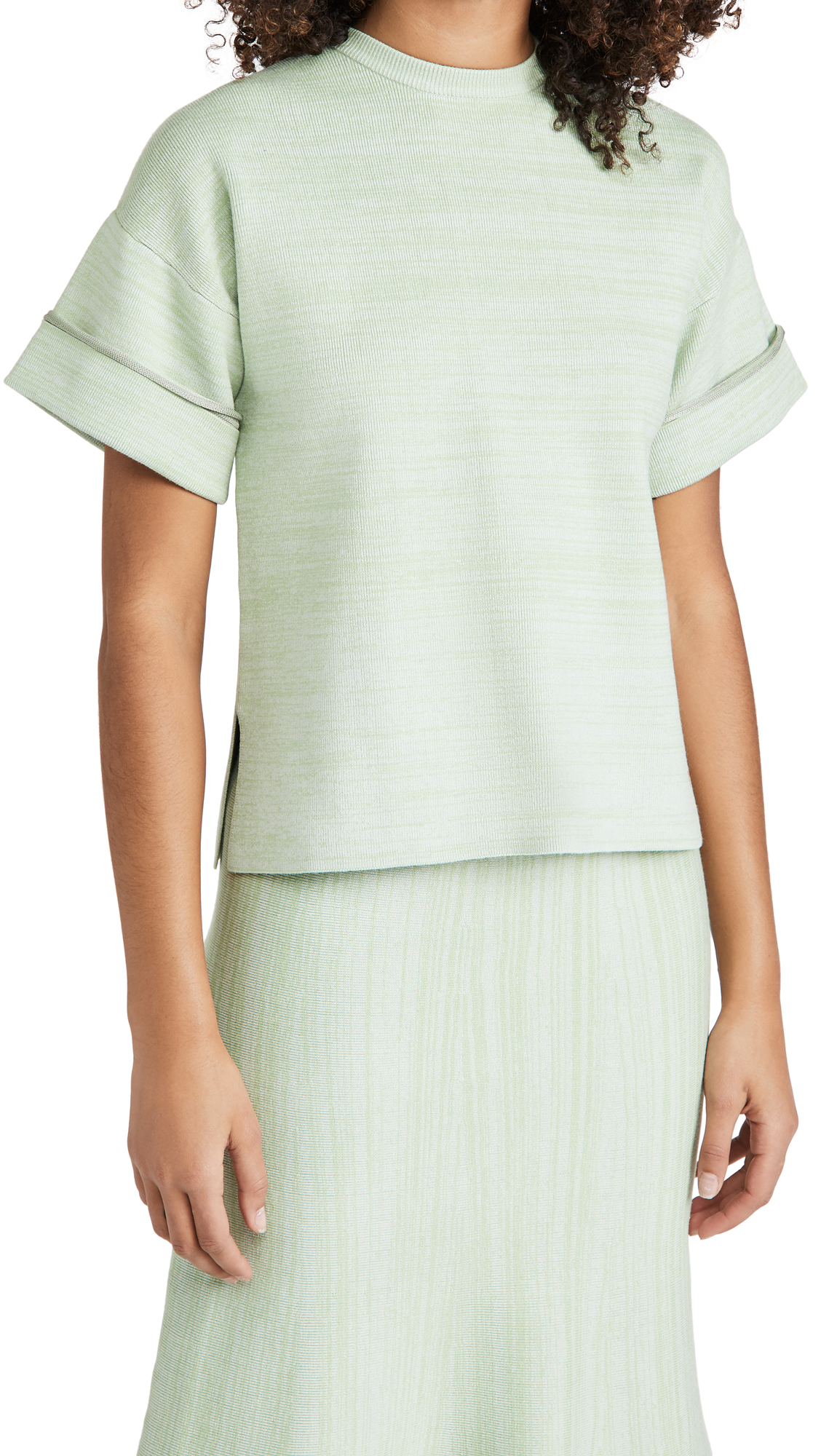 Victoria Victoria Beckham BOXY SOFT VISCOSE BLEND T-SHIRT TOP