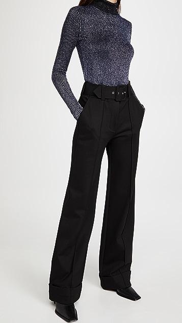 Victoria Victoria Beckham 罗纹美利奴金属元素贴合版型毛衣