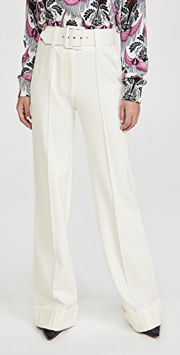 Victoria Victoria Beckham - Belted Ponte Jersey Trousers