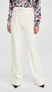 Victoria Victoria Beckham Belted Ponte Jersey Trousers