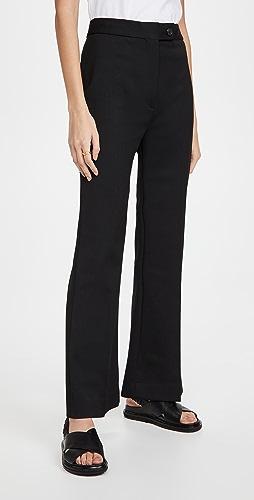 Victoria Victoria Beckham - High Waist Cropped Lightweight Stretch Trousers