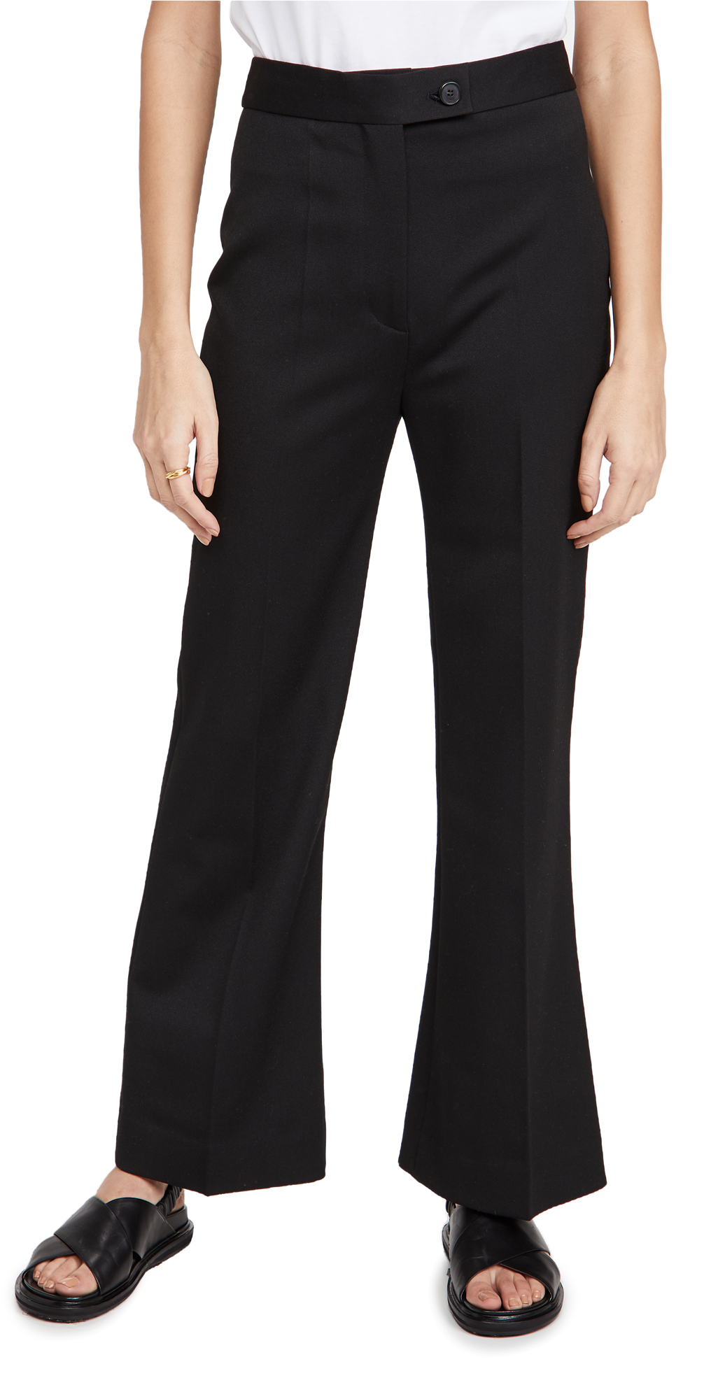 Victoria Victoria Beckham High Waist Cropped Lightweight Stretch Trousers