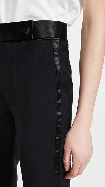 Victoria Victoria Beckham 修身版型羊毛马海毛礼服式长裤
