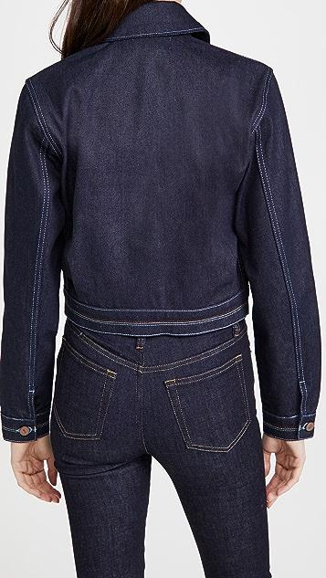 Victoria Victoria Beckham Rainbow Stitch Denim Harrington Jacket