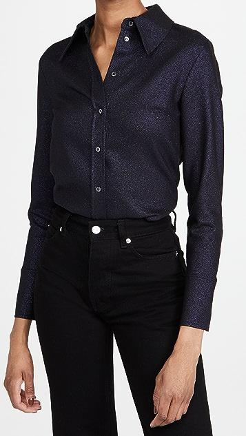 Victoria Victoria Beckham Fitted Metallic Tailoring Shirt