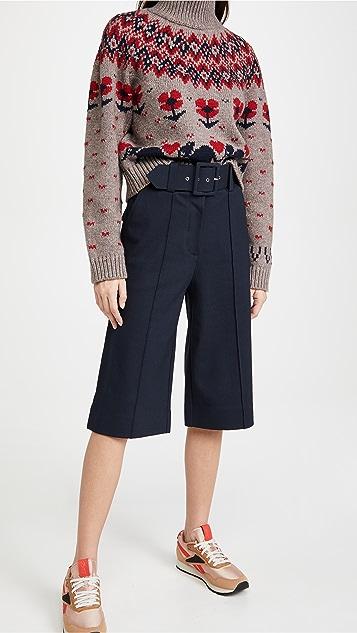 Victoria Victoria Beckham Ponti 系腰带针织裤裙