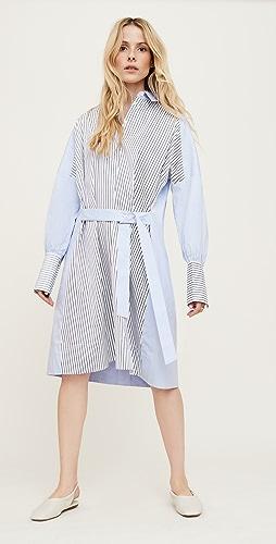 Victoria Victoria Beckham - Patchwork Tie Front Shirt Dress